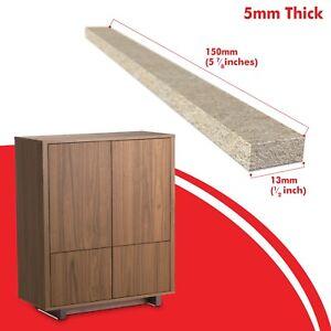 4x Furniture Pads 5mm Beige Rectangular Felt Pads Floor Protectors 150mm x 13mm