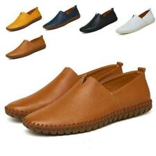Mens Driving Casual Boat Shoes Leather Shoes Moccasin Slip On Loafers retro size