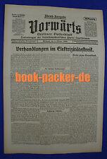 VORWÄRTS (6. Oktober 1920): Verhandlungen im Elektrizitätsstreik