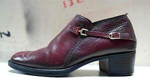 Salamander Herren Schuhe 70er Blockabsatz Leder 41 Halbschuhe Uk 7 True Vintage