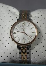 Fossil ES3844 Lady's Jacqueline 3-Hand Gold/Rose-Gold Tone Stainless Steel Watch