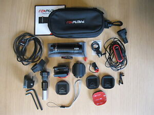 USED REPLAY XD1080 HELMET ACTION CAMERA WITH ACCESSORIES.