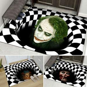 Halloween Mat 3D Printed Stereo Joker Anti-slip Home Room Rug Carpet Floor Door