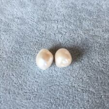 Baroque15x32mm pearl Natural white 14KGF earring AAAA LUSTER50MM#255