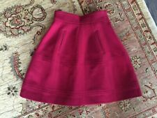 Theory Mini Skater Skirt Wool Berry Color Size 00 ( XXS ) NWOT $65