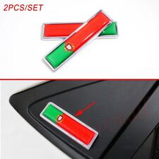 Chrome Car Motor 3D Sticker Decal Portuguesa Portugal PT Flag Emblem Badge Trim