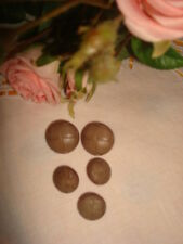 5 BOUTONS (imitation cuir) couleur taupe / BUTTONS