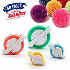 4 Sizes Wool Tool Ball Weaver Needle Craft DIY Pompom Maker Knitting Loom