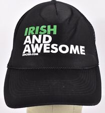 Black Irish And Awesome dpcted.com Trucker hat cap adjustable snapback