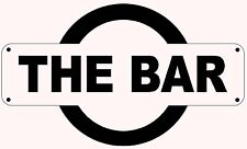 THE BAR TRAIN STATION REPLICA SIGN - FATHERS DAY GIFT BIRTHDAY CHRISTMAS