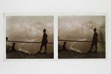 Mont-Blanc France Photo E37 Stereo Plaque de verre 1927