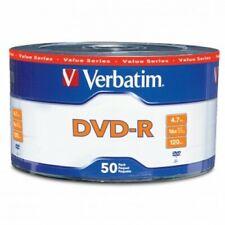 50-PK VERBATIM 16X Logo Top Blank DVD-R DVDR Recordable Disc Media 4.7GB