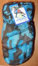 1 Paar Kinderhandschuhe / Fausthandschuhe mit Motiv / Neu / Blautöne / H 22