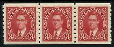 Canada SG 370 3c Scarlet Strip Of Three Unmounted Mint