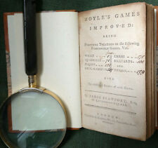 New listing 1775 FIRST EDITION OF HOYLE'S GAMES IMPROVED INCLUDES CHESS, TENNIS & BILLIARDS