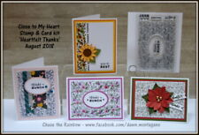 CTMH C1718 Heartfelt Thanks stamp and card kit, thank you cards for all seasons