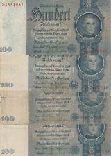 4x ro.176/100 Reichsmark/Deutsches Reich/1935
