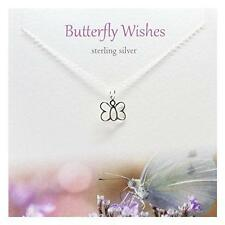 Silver Studio Sterling Silver Necklace & Greeting Card Butterfly Wishes
