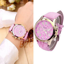 Women's Fashion Geneva Watch Analog Faux Leather Analog Quartz Sport Wrist Watch