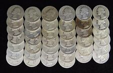 1936 S WASHINGTON QUARTER GOOD TO FINE FULL ROLL 40 COINS
