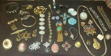 Necklaces Cameos Earrings Brooches Bangles Large Vintage & Victorian Jewelry Lot