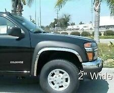 2004-2014 Chevy Colorado 04-12 GMC Canyon w/o Flares Stainless Fender Trim