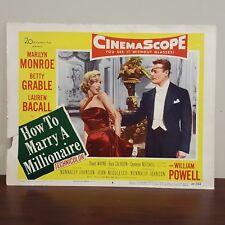 1953 CinemaScope How To Marry A Millionaire Lobby Card No 536 Marilyn Monroe