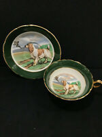 VINTAGE REGENCY BONE CHINA ENGLAND TEA CUP and SAUCER WITH IRISH SETTER
