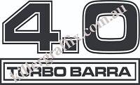 KILLER GRAFFIX CUSTOM 4.0 TURBO BARRA DECAL/STICKER FORD FALCON 1 PAIR 30CM WIDE