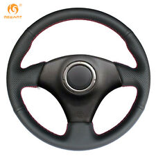 Soft Black Genuine Leather Steering Wheel Cover for Toyota RAV4 Celica / Lexus