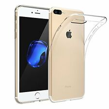"COVER CUSTODIA TRASPARENTE MORBIDA IPHONE 7 PLUS 5.5"" TPU GEL SILICONE ULTRASLIM"