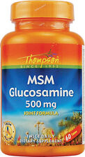 Glucosamina MSM 500mg + 500g, 60 compresse, Joint Formula-Thompson