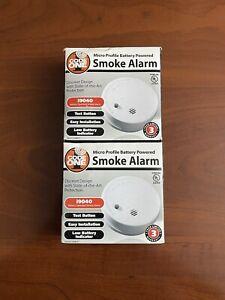 Code One Micro Profile Battery Powered Smoke Alarm Detector i9040