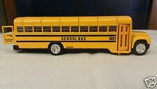 Vintage Sunnyside SS 6851 / CB 38453 Pull Back  Die Cast Yellow Metal School Bus