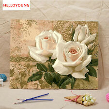 Handpainted Oil Painting White Peony Digital Painting by numbers oil paintings
