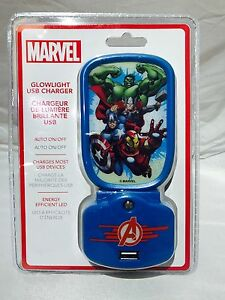 Marvel-Glowlight-Night-Light-LED-USB-Charger-VCU-05AV-FX Brand New