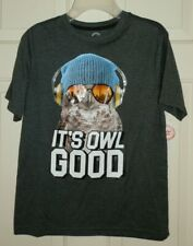 Boys Owl T Shirt Size 6-7 Small Music Graphic Tee Its Owl Good New York Top