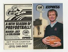 1983 LA EXPRESS POCKET SCHEDULE USFL Football