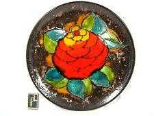 """70´s """"Flower Power"""" design Ruscha Keramik pottery wall plate Wandteller  717 / 3"""