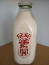Vintage Challenge Dairy QuartMilk Bottle