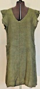 Puro Lino - Linen Dresses: White, Black, Peach, Various Blues, Green & Coral