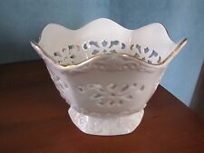 Vintage Lenox Ornate Pierced Bowl from the Langtry Collection 1996