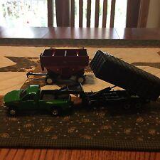 Ford F-350 Truck, J&M 680/760 Gravity Wagon, 5th Wheel Grain Trailer 1/64 by Ert
