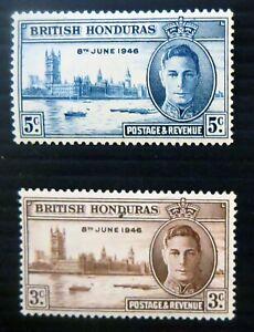 Honduras stamps George VI Victory 1946 MINT