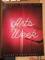 Vintage 70s Illinois Arts Council Arts Week October 6-13 EXHIBITION POSTER 1979
