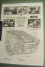 Mercedes 280SL AIR CONDITIONING  INSTALL - SPARE PARTS - SERVICE MANUAL W113.044