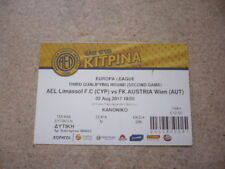 AEL LIMASSOL 17/18 Europa League Qualifier vs FK AUSTRIA WIEN-VIENNA