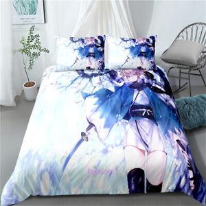 Anime Naruto Linen Single/Double/Queen/King Size Bed Doona/Duvet/Quilt Cover Set