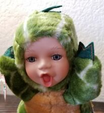 Geppeddo Cuddle Kids Porcelain Tracy T Rex Baby Doll Dinosaur Plush Toy 2000