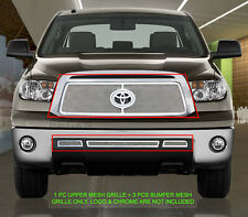 10-13 Toyota Tundra Stainless Mesh Grille Grill Combo Insert Fedar